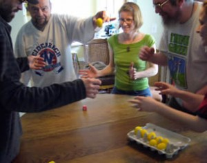 a Tasting of the Dancing Eggs game