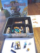 Pack & Stack family board game