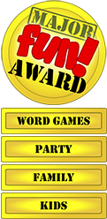 winning the word, family, kids, party game award